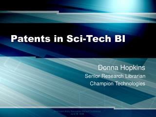Patents in Sci-Tech BI