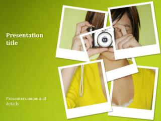 Polaroid Powerpoint Template