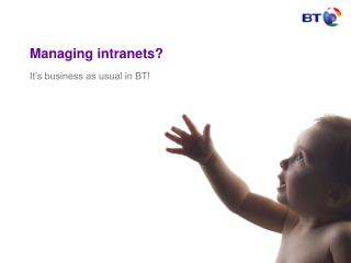 Managing intranets?
