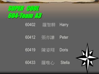 SUPER   COOL 604-Team  A3