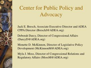 Center for Public Policy and Advocacy