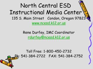 North Central ESD Instructional Media Center