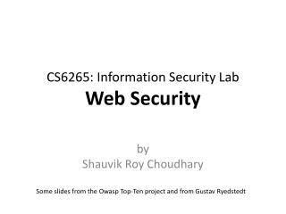 CS6265: Information Security Lab Web Security