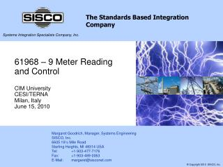 61968   9 Meter Reading and Control  CIM University CESI