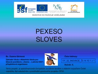 PEXESO SLOVES