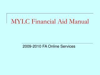 MYLC Financial Aid Manual