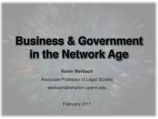 Business & Government  in the Network Age