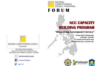 14 May 2014, Wednesday 8:30 AM - 4:00 PM U.P. Ayala Land Techno Hub Don Mariano Ave., Quezon City