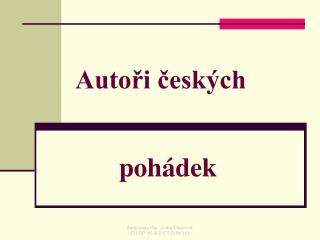 Autoři českých