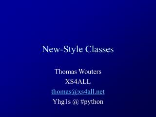 New-Style Classes