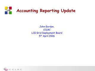 Accounting Reporting Update