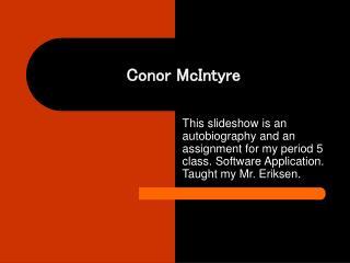 Conor McIntyre
