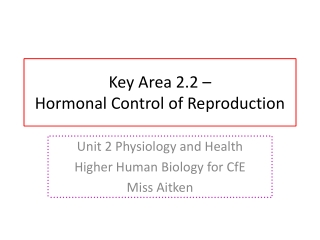 Female Hormones and the Menstrual Cycle