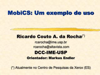 MobiCS: Um exemplo de uso