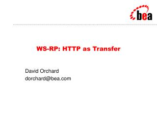 WS-RP: HTTP as Transfer