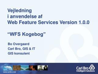 """Vejledning i anvendelse af  Web Feature Services Version 1.0.0 """"WFS Kogebog"""""""