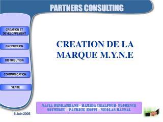 CREATION DE LA MARQUE M.Y.N.E