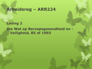 Arbeidsreg – ARR224