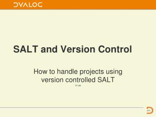 SALT and Version Control
