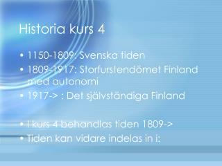 Historia kurs 4