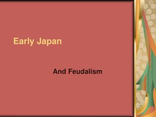 Early Japan