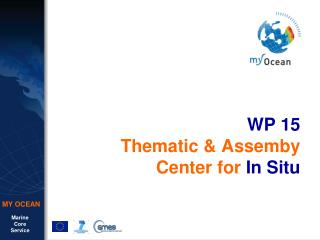 WP 15 Thematic & Assemby  Center for  In Situ