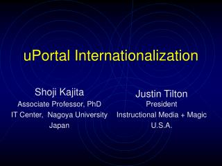 uPortal Internationalization