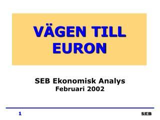 VÄGEN TILL EURON