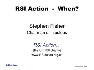 RSI Action  -  When?