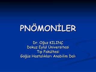 PNÖMONİLER