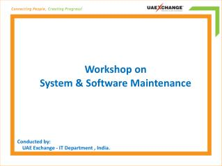 Workshop on System & Software Maintenance