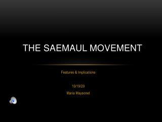 The Saemaul Movement