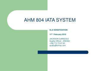 AHM 804 IATA SYSTEM