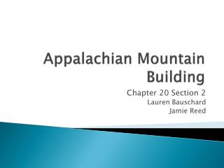 Appalachian Mountain Building