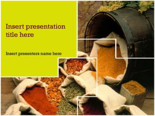 Mixed Spices Powerpoint Template