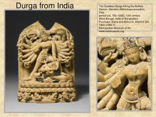 The Goddess Durga Killing the Buffalo Demon, Mahisha (Mahishasuramardini), Pala