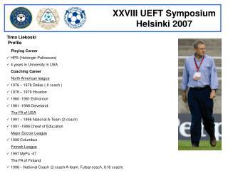 Timo Liekoski  Profile