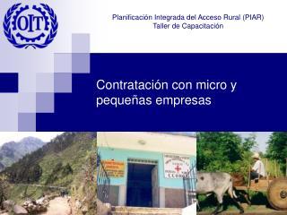 Contratación con micro y pequeñas empresas