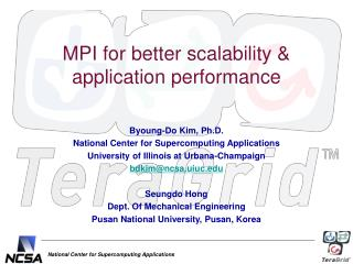 MPI for better scalability & application performance