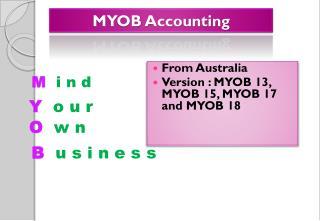 MYOB  Accounting