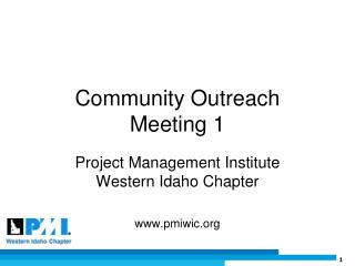 Community Outreach Meeting 1