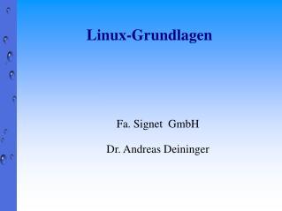 Linux-Grundlagen