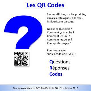 Q uestions R éponses Codes
