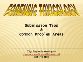 Submission Tips    Common Problem Areas