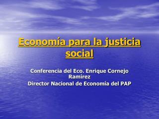 Economía para la justicia social