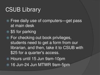 CSUB Library