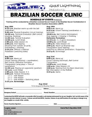 BRAZILIAN SOCCER CLINIC