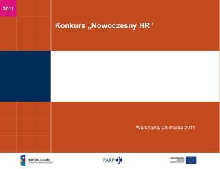 """Konkurs """"Nowoczesny HR"""""""