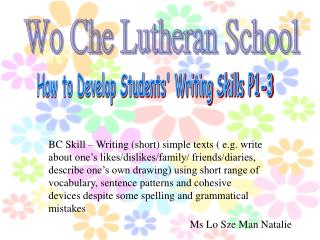 How to Develop Students' Writing Skills P1-3