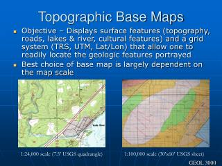 Topographic Base Maps